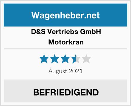 D&S Vertriebs GmbH Motorkran Test
