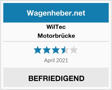 Wiltec Motorbrücke Test