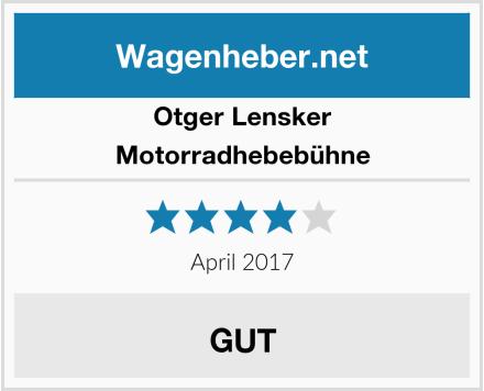 Otger Lensker Motorradhebebühne Test