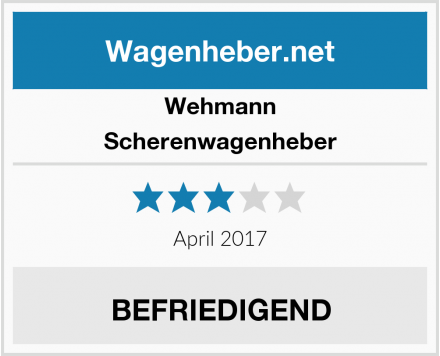 Wehmann Scherenwagenheber Test