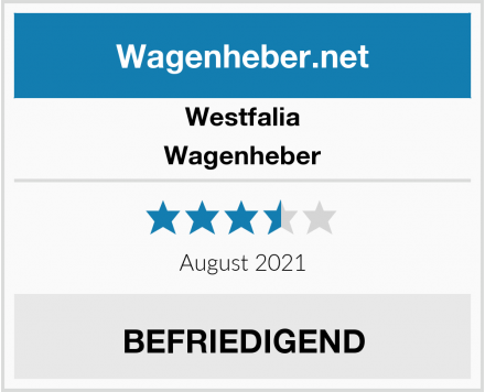 Westfalia Wagenheber Test