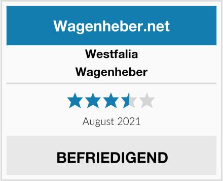 Westfalia Wagenheber Test