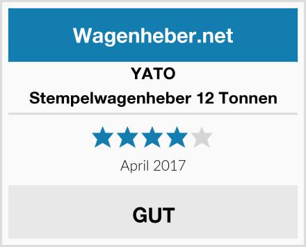 Yato Stempelwagenheber 12 Tonnen Test
