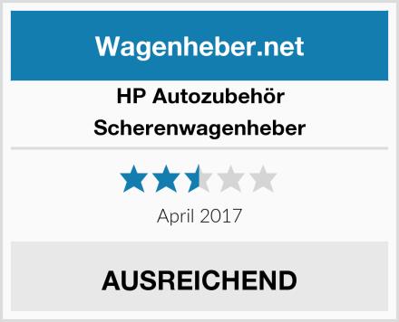 HP Autozubehör Scherenwagenheber Test