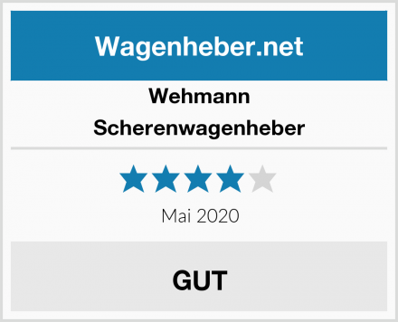 Wehmann Scherenwagenheber Test