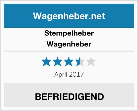 Stempelheber Wagenheber Test