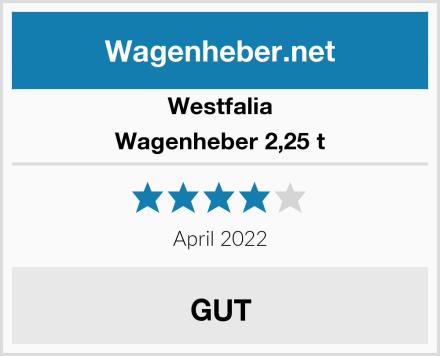Westfalia Wagenheber 2,25 t Test