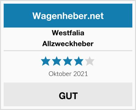 Westfalia Allzweckheber Test