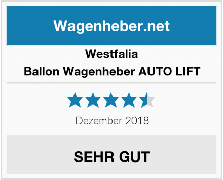 Westfalia Ballon Wagenheber AUTO LIFT Test
