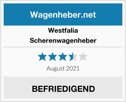 Westfalia Scherenwagenheber Test