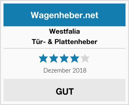 Westfalia Tür- & Plattenheber Test