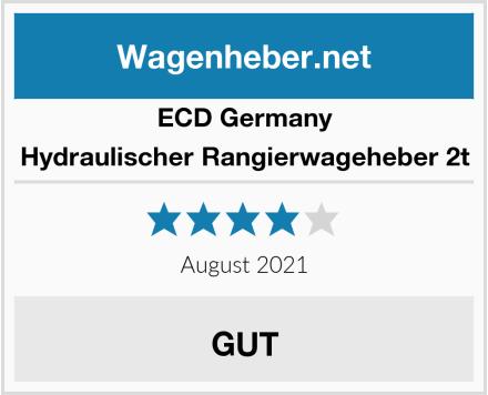 ECD Germany Hydraulischer Rangierwageheber 2t Test