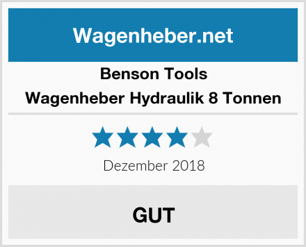 Benson Tools Wagenheber Hydraulik 8 Tonnen Test