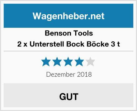 Benson Tools 2 x Unterstell Bock Böcke 3 t Test