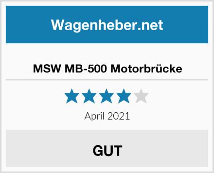 MSW MB-500 Motorbrücke Test