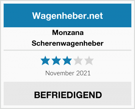 Monzana Scherenwagenheber Test