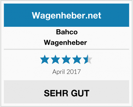 Bahco Wagenheber  Test