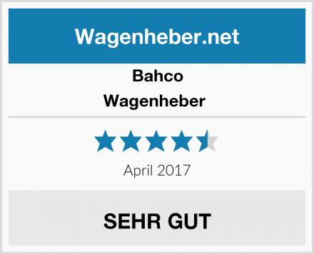 Bahco Wagenheber  Test